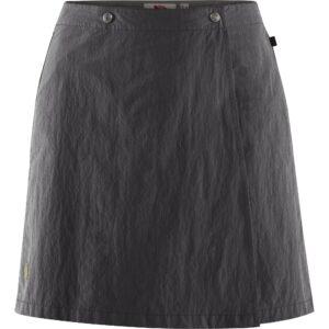 Fjällräven travellers mt skort w dark grey - nederdel og shorts 2 i 1