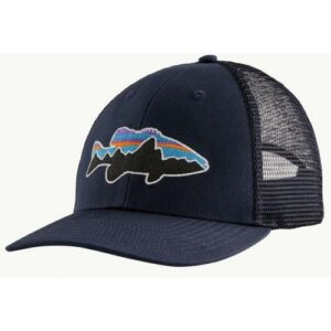 Patagonia Fitz Roy Fish LoPro Trucker Hat New Navy