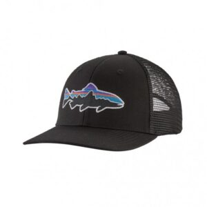 Patagonia Fitz Roy Trout Trucker Hat Black