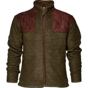 Seeland william ii fleece jakke | pine green | 3xl
