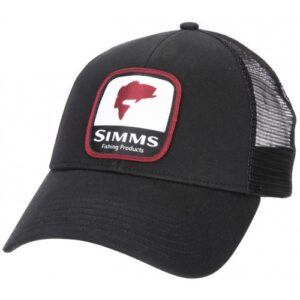 Simms Bass Patch Trucker Black