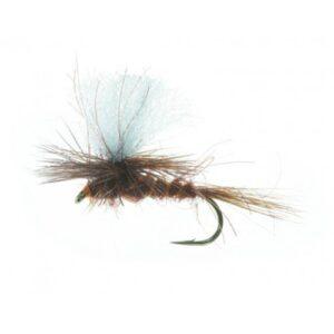Unique Tørflue FL35024 Parashute Dun Dark Brown Daiichi 1180 #14