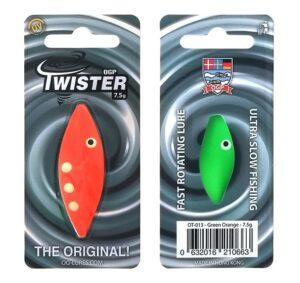 Ogp twister - green orange - flere størrelser