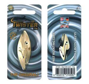 Ogp twister - real 24k gold - flere størrelser