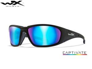 Wiley X BOSS Captivate Blue Mirror Matte Black Frame