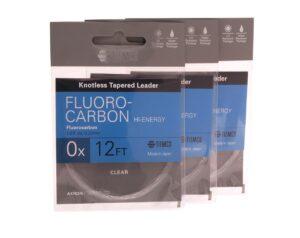 3 stk. akron fluocarbon forfang 12' til laks og havørredfiskeri