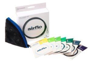 Airflo polyleadersæt med 7 forforfang og mappe