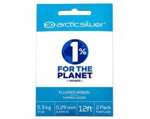 Arcticsilver - fluorocarbon tapered leader 2 styks pakning
