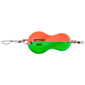 Spro Butt Spoon - Fladfiskeske 40 Gr Grøn/orange - Fladfiskeforfang Og Bundforfang